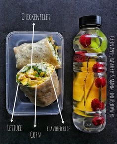 Weight Loss Meal Prep For Women Week In 1 Hour. Weight Loss Meal Prep For Women Week In 1 Hour) - Healthy office lunch with chicken wrap Source by tiarnanlee Healthy Detox, Healthy Drinks, Healthy Snacks, Healthy Eating, Healthy Recipes, Healthy Weight, Lunch Meal Prep, Healthy Meal Prep, Dinner Meal