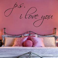 PS I Love You Wall Decal Vinyl Sticker Art 15h X by Stickitthere, $19.99
