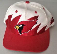 Arizona Cardinals Vintage Snapback Logo Athletic Sharktooth Hat NFL ProLine Cap