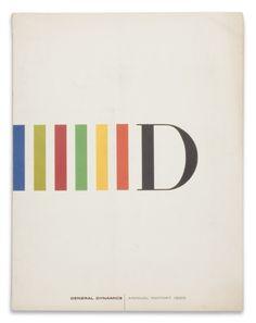General Dynamics annual report, Erik Nitsche, 1959.
