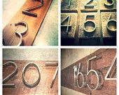Modern Nickel House Numbers on Salvaged Wood