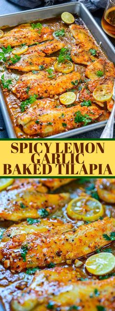 This simple Spicy Lemon Garlic Baked Tilapia takes all of 5 moment of planning time before you pop it in the stove. Pair it with sautéed vegetables … Spicy Lemon Garlic Baked Tilapia - Spicy Lemon Garlic Baked Tilapia Healthy Dinner Recipes For Weight Loss, Healthy Meal Prep, Easy Dinner Recipes, Easy Meals, Healthy Eating, Dinner Healthy, Cheap Recipe For Dinner, Breakfast Recipes, Diabetic Dinner Recipes