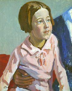 La fille de l'artiste-Huile sur toile (31x40 cm)-Edmond Astruc