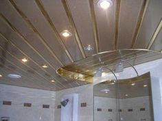 suspended ceiling design with ceiling lights