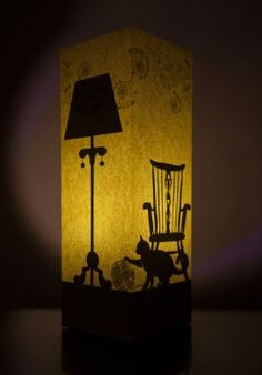 """Paper lamp - """"Cat and chair"""" BUY IT NOW ON www.dezzy.it!"""