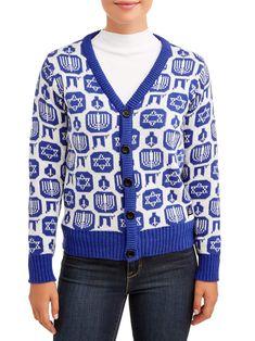 Free 2-day shipping. Buy American Stitch Women's Hanukkah Cardigan Sweater at Walmart.com Hanukkah Sweater, Ugly Christmas Sweater, Sweater Cardigan, Men Sweater, Clothes For Women, Women's Clothes, Online Price, Walmart, Hanukkah 2019