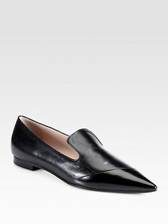Miu Miu Spazzolato Leather Loafers