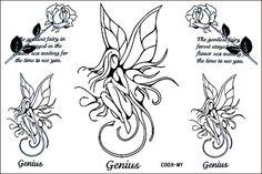 fairy tattoo design silohuette - Buscar con Google