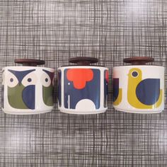 animal storage jars available in June #orlakiely