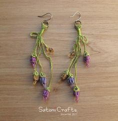 《受注製作》Earrings, Tatting_Tsubomi (Spling)