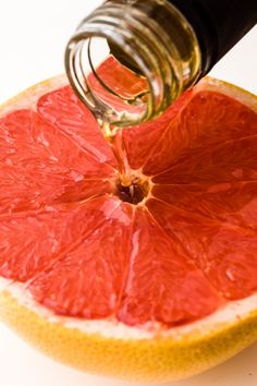 Grapefruit goes very well with champagne (or any sparkling white wine), vodka (dark Starka is excellent here), tequila or rum. Obviously you can also try classic associations like Campari or Grand Marnier.