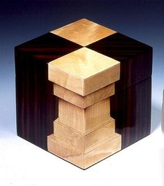 This is another trompe l'oeil box using the hot sand-shading. Description from wood-veneers.com. I searched for this on bing.com/images