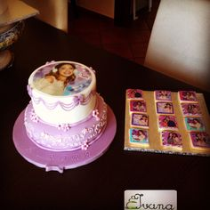 Violetta cake and cookies