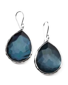 Natural wonder: these Ippolita earrings bring together organic textures, intensely faceted quartz, and bright sterling silver.