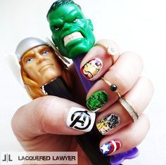 Lacquered Lawyer | Nail Art Blog: Avengers