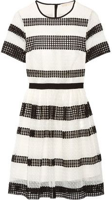 Shop Now - >  https://api.shopstyle.com/action/apiVisitRetailer?id=626236767&pid=uid6996-25233114-59 MICHAEL Michael Kors - Paneled Crocheted Lace Mini Dress - White  ...
