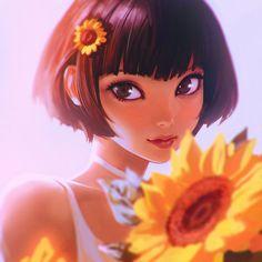 Sunflower by KR0NPR1NZ > more stunning work from 1 of our favorite #artists http://www.deviantart.com/art/Sunflower-549276357?utm_content=buffer1cf0c&utm_medium=social&utm_source=pinterest.com&utm_campaign=buffer #portraitart