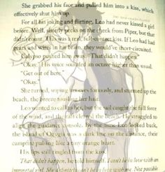 From the House of Hades~Calypso and Leo Kiss