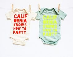 California Knows How to Party Onesie