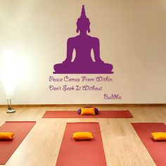 Buddha Quote Peace Comes From Within Don't Seek It Without Yoga Meditation Decal Vinyl Sticker Decor Home Interior Design Art Murals M775