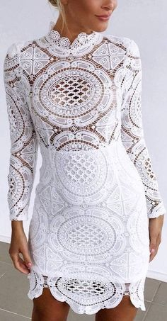 #prefall #muraboutique #outfitideas | White Lace Dress