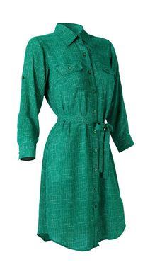 3/25 - Emerald Shirt Dress - Dresses - CAbi Spring 2013 Collection - $98