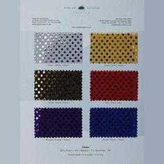 Cheer - Color Card   Solid Stone Fabrics - I love these cards for color matching and helping clients select fabrics!