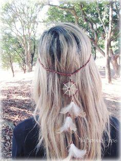 Headband Filtro dos Sonhos.    Feito a mão.    Na Estrada Hippie.