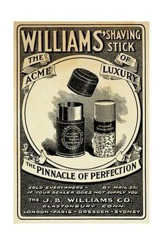 Giclee Print Williams Shaving Stick 24x16in