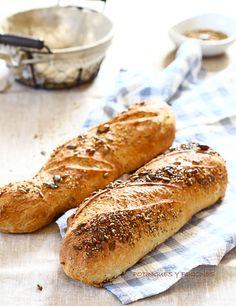 Pan rústico con semillas