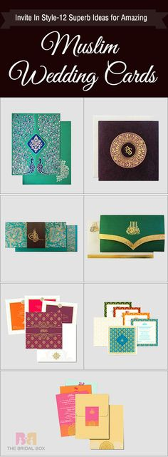 Invite In Style-12 Superb Ideas for Amazing Muslim Wedding Cards