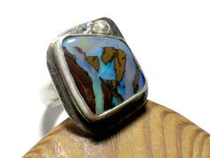 Freeform Opal and silver ring by riorita on Etsy, $195.00