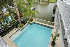 13743 Windlass Circle. Beautiful saltwater pool with bay views. Bernstein Realty, Houston Real Estate.