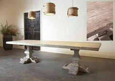 Large Rustic Reclaimed Elm Plank Dining Table. Mecox. Mecox has so many great tables!!