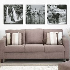 3 Pcs Black White Waterfall definition pictures canvas Art prints Home Decoration living room modular painting Print cuadros Car Decals, Vinyl Wall Decals, Sticker, Canvas Art Prints, Painting Prints, Canvas Pictures, Living Room Decor, Love Seat