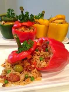 Chorizo and Beef Caldereta Stuffed Peppers. If ou liked the recipe, please don't forget to VOTE!  :)