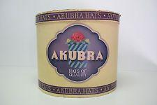 Vintage Akubra Hat Box Circa Good Condition P/U Mentone Vic or Post Akubra Hats, Hat Boxes, Coffee Cans, Conditioner, Ebay, Vintage, Aussies, Vintage Comics, Primitive