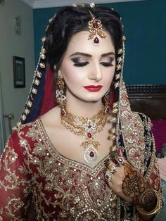 Pakistani Bridal Makeup, Pakistani Wedding Dresses, Perfect Bride, Beautiful Bride, Bridle Dress, Bridal Anarkali Suits, Pakistan Wedding, Bridal Photography, Bridal Outfits