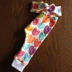 Hey, I found this really awesome Etsy listing at https://www.etsy.com/listing/217978928/finger-paint-hearts-legging-and-top-knot leggings and top knot headband set