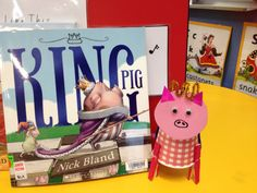 King Pig - Nick Bland art activity for Book Week Pig Crafts, Going For Gold, Author Studies, Book Study, Book Week, Art Activities, Authors, Literacy, Texts