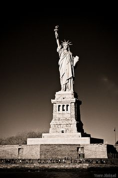 New York City - The Statue of Liberty, Liberty Island #USA