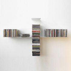 Estantería mural / moderna / de acero / para CD TUS TEEbooks