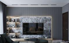 Living Room on Behance Tv Cabinet Design, Tv Wall Design, Home Room Design, House Design, Tv Unit Interior Design, Modern Tv Wall Units, Living Room Tv Unit Designs, Tv Wall Decor, Living Room Interior