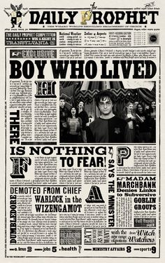 Harry Potter Daily Prophet Printable Daily prophet