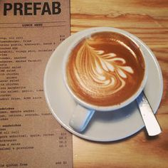 Prefab Café - Wellington is wonderfully walkable, and often more efficiently traveled on foot than by taxi or bus. Which means you will work up quite an appetite for lunch. Head to the Prefab Cafe. Their Halloumi salad (read: fried cheese on greens) may be the best bite in Wellington. Be sure to browse their in-house coffee brand (and perhaps order another flat white).