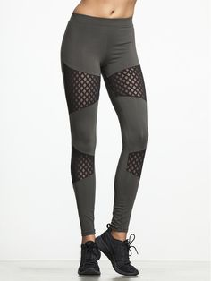 Diamond Mesh Legging by SOLOW - BOTTOMS & LEGGING