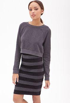 Chenille & Metallic Knit Skirt | Forever 21 - 2000059405