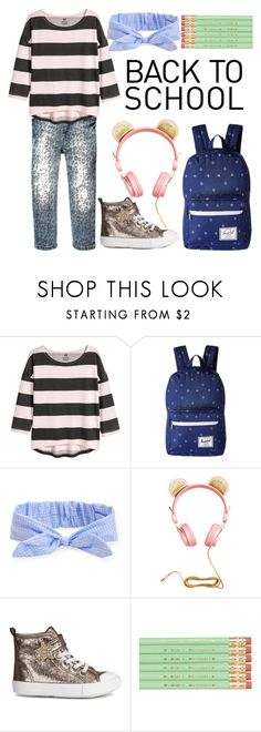 """""""back to school"""" by teresa-charming ❤ liked on Polyvore featuring H&M, Herschel Supply Co. and Aéropostale"""