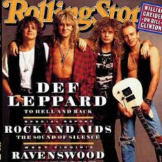 Def Leppard~I have this Rolling Stone cover framed in my studio :)