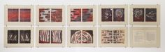 Weeping in the Blood - A set of woodblocks with diptych prints on Kitikata paper, matted and in a portfolio, 25.4x21.6cm prints for 10,400 Swiss Francs | Experience Jamaique
